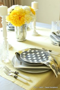 Combining Textures and Patterns in a Tablescape is a great way to add visual interest and style to your seasonal tabletops.