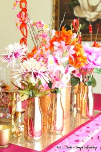 This Moroccan Inspired Tablescape is filled with lots of color, shimmer, texture and great bargains.