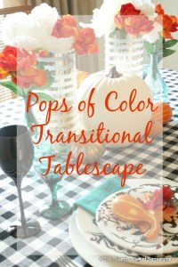 Styling this Pops of Color Transitional Tablescape was an easy nod to the upcoming season while bidding adieu to summer.