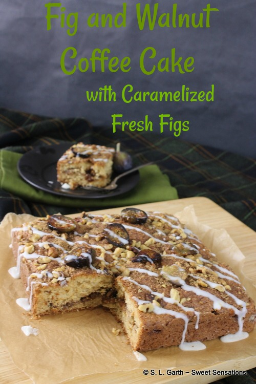 This Fig and Walnut Coffee Cake Topped with Caramelized Figs is a great way to have your cake and eat it too.