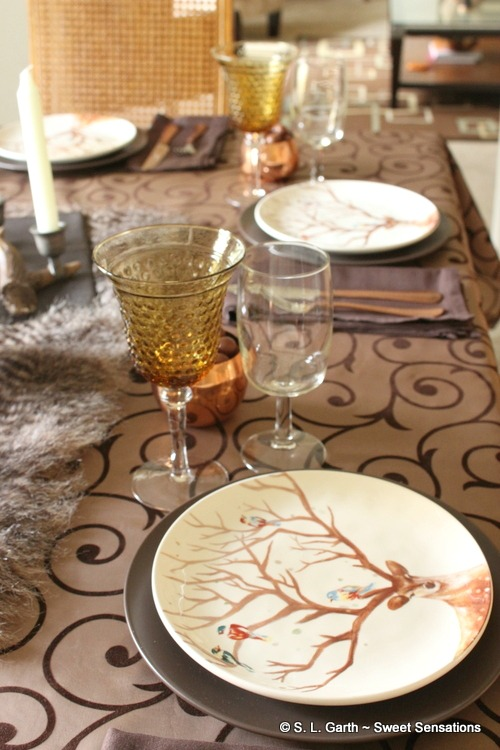 With no frills or fuss, this Gathering of Gentlemen Thanksgiving Tablescape could also be gender neutral.
