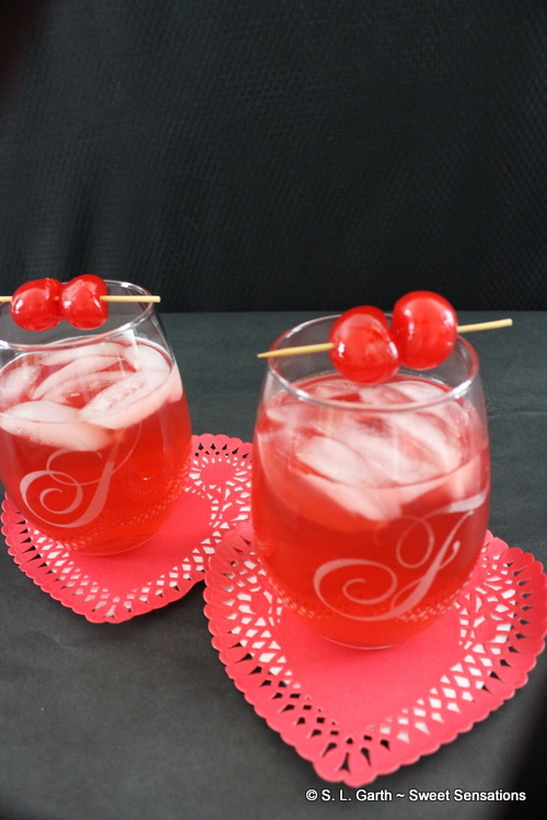 With these Personalized Valentine's Gifts from Gifts For You Now, I decided to make Bourbon Cherry Crush Cocktails and include Charcuterie that serves two for a special pre-Valentine's celebration.