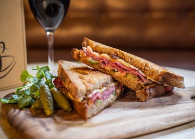 NOLA Toasted Sandwich The Swinging Cat Late Night Bar Food Drinks