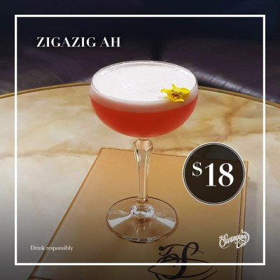 December Cocktail of the Month The Swinging Cat Zigazig Ah! Spice Girls Wannabe Wanna Be
