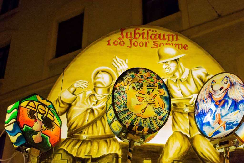 Large lanterns at the Basler Fasnacht