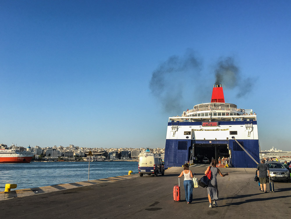 Ferry in Athens