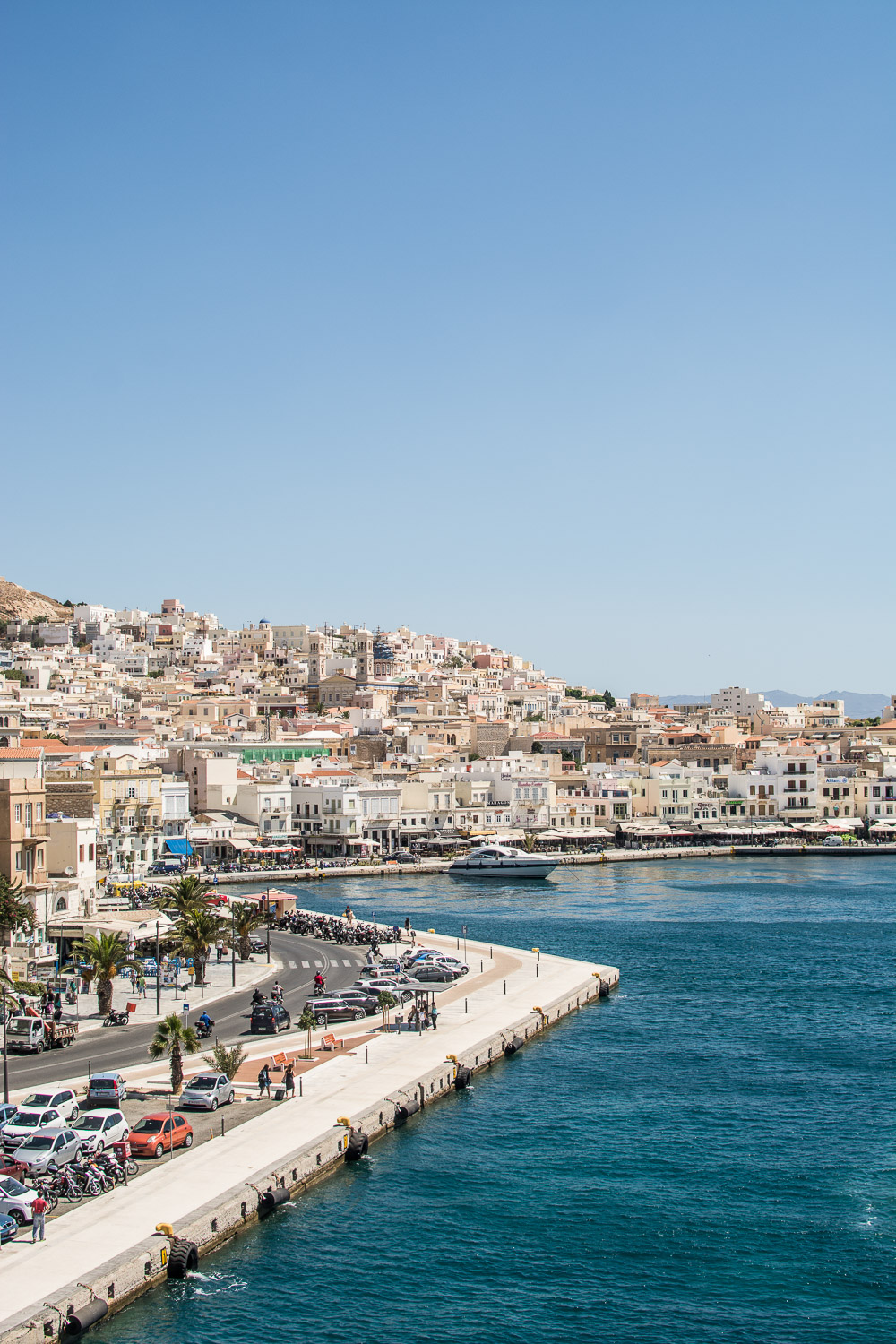 Port of Syros, one of the Greek Islands