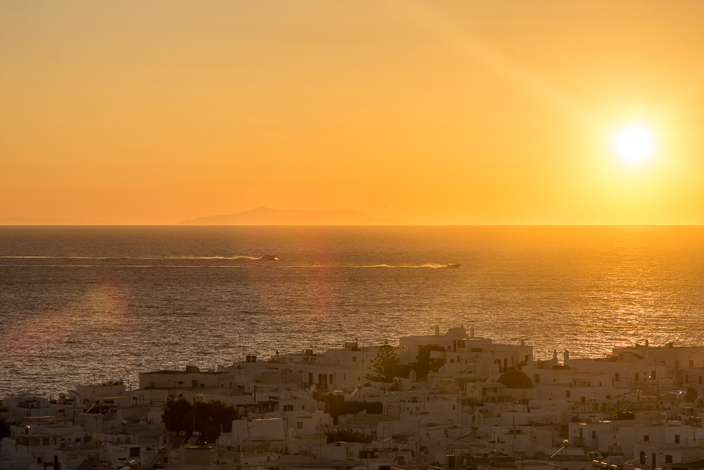 Sunset in Mykonos