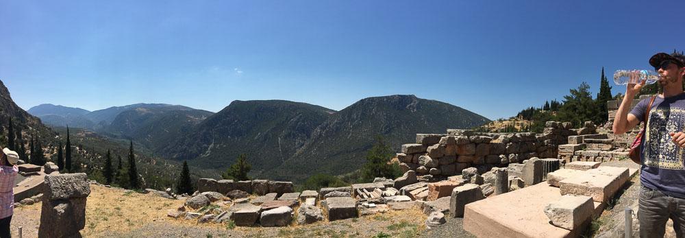 Overlooking the Valley in Delphi