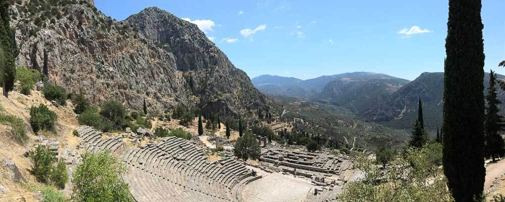 The Amphitheater in Delphi Greece