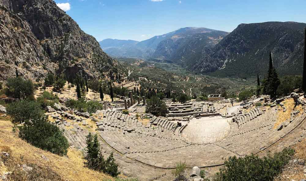 amphitheater at delphi greece