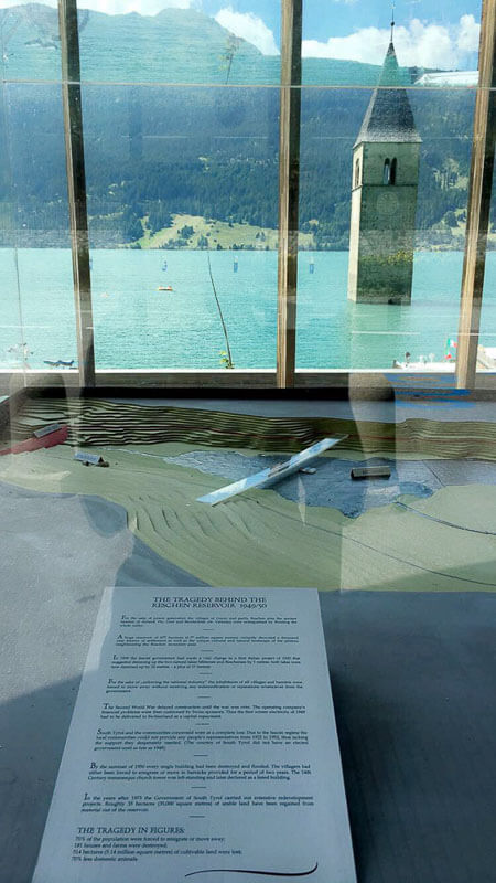 Display of the History of Lake Reschen