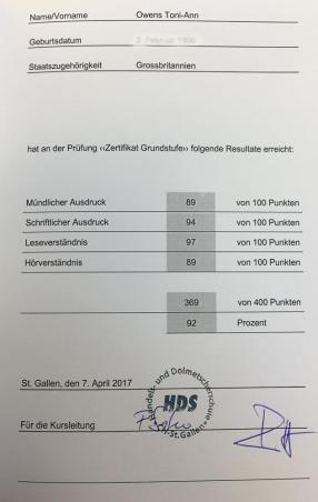 HDS Level A Certificate