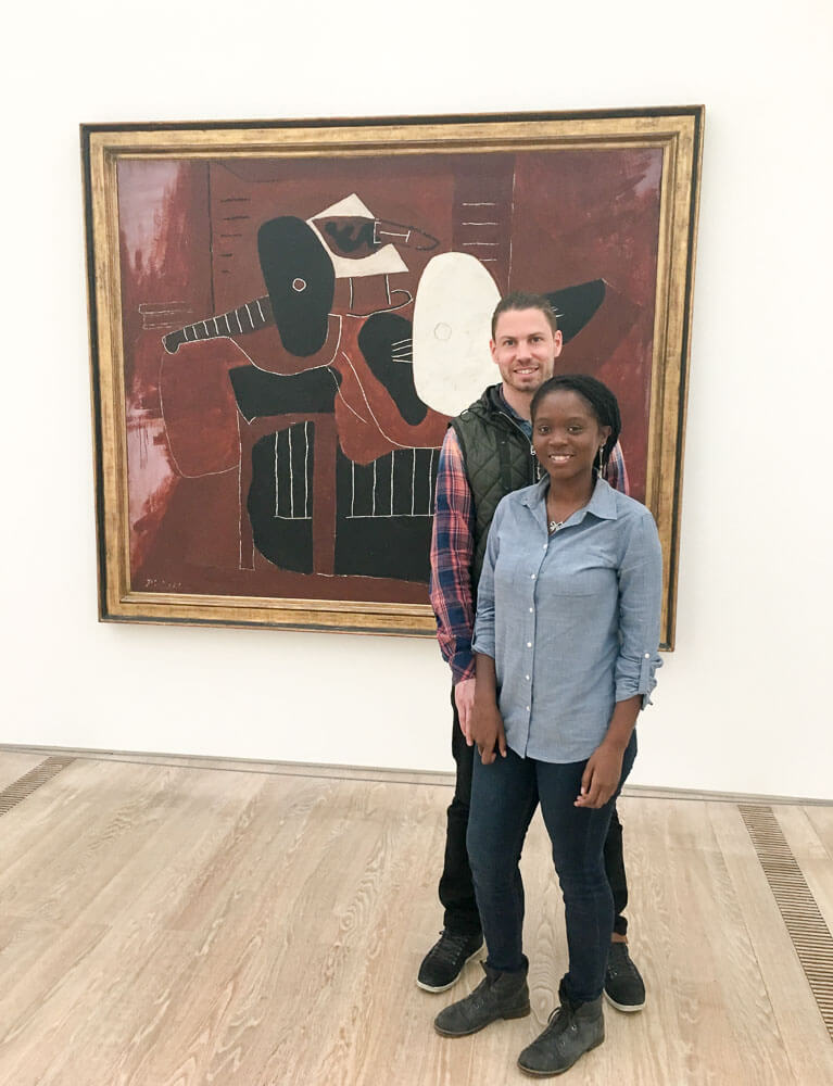 Jerry and I with a Pablo Picasso Painting