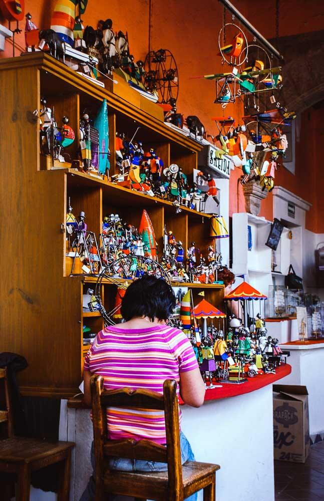 Woman making toys in Mexico