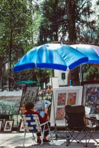 Artist Selling Paintings in Mexico City