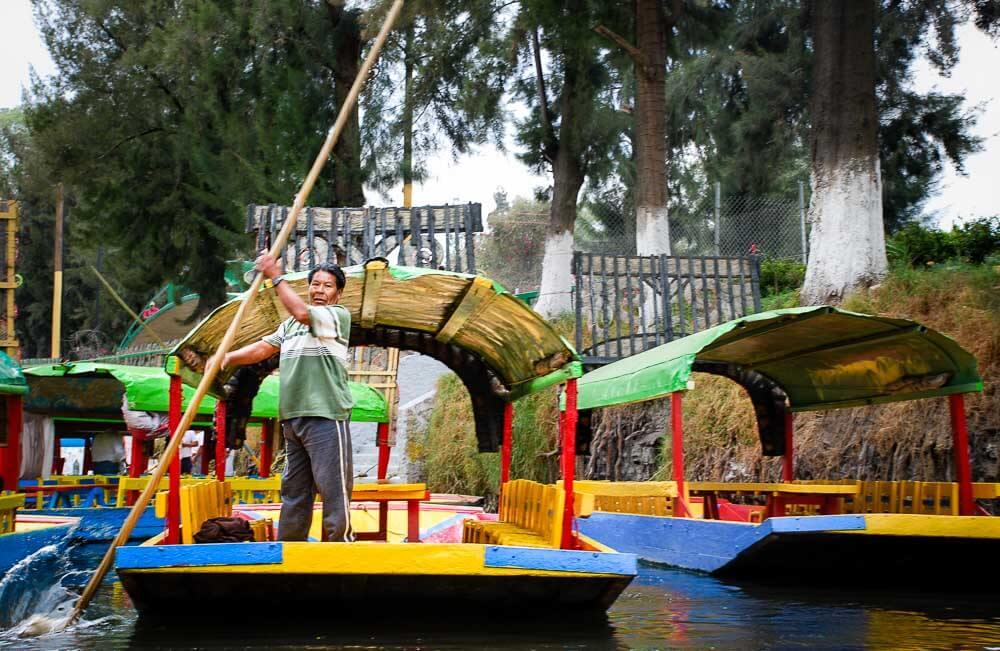 Colourful Boats at Xochimilco Mexico