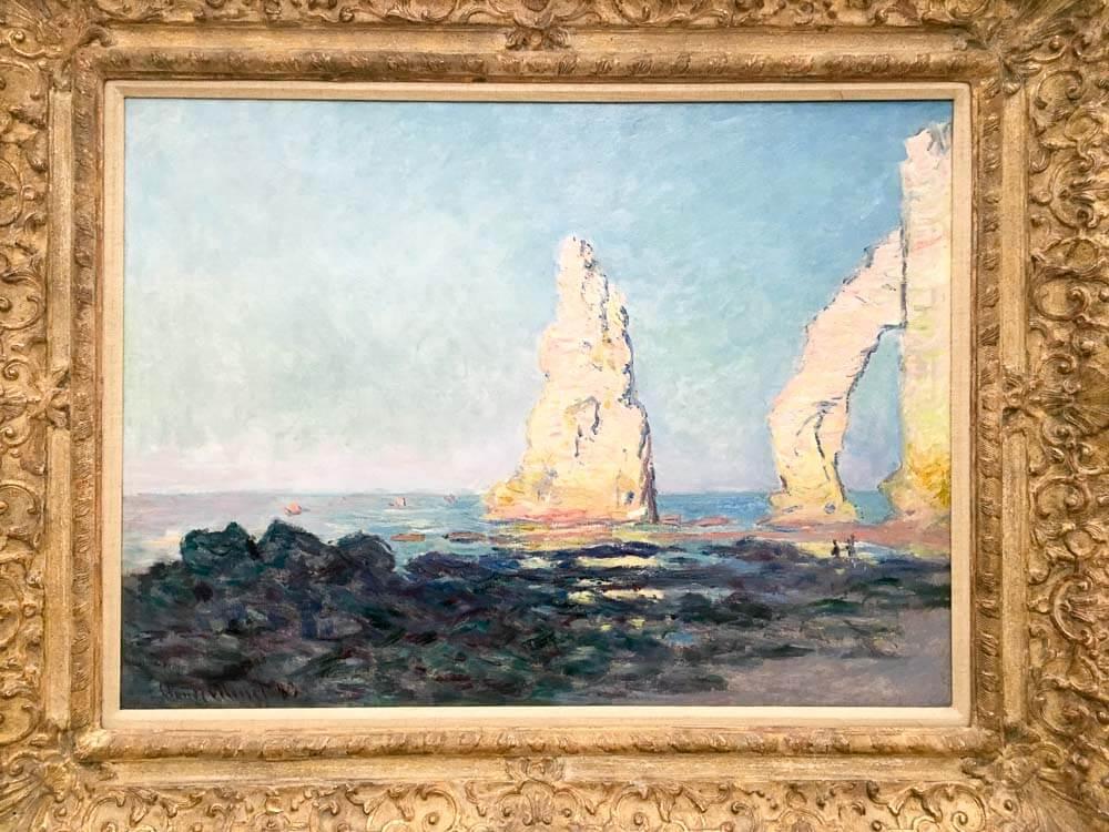 The Needle Rock at Low Tide, Étretat, 1883