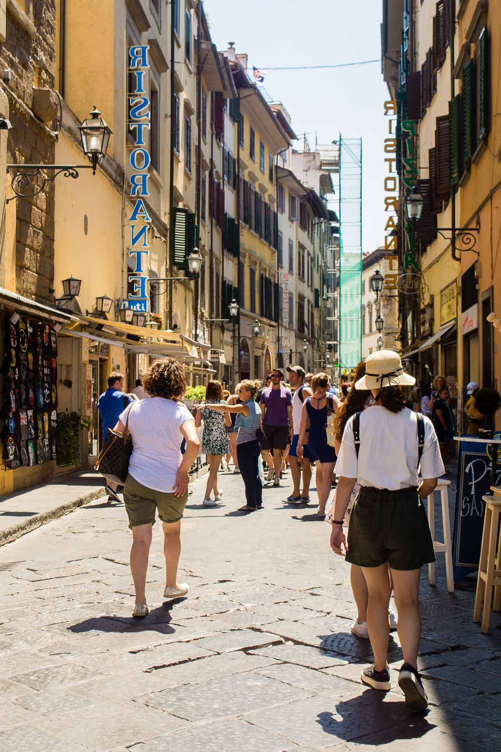 Busy Street Alley in the city of Florence, Italy