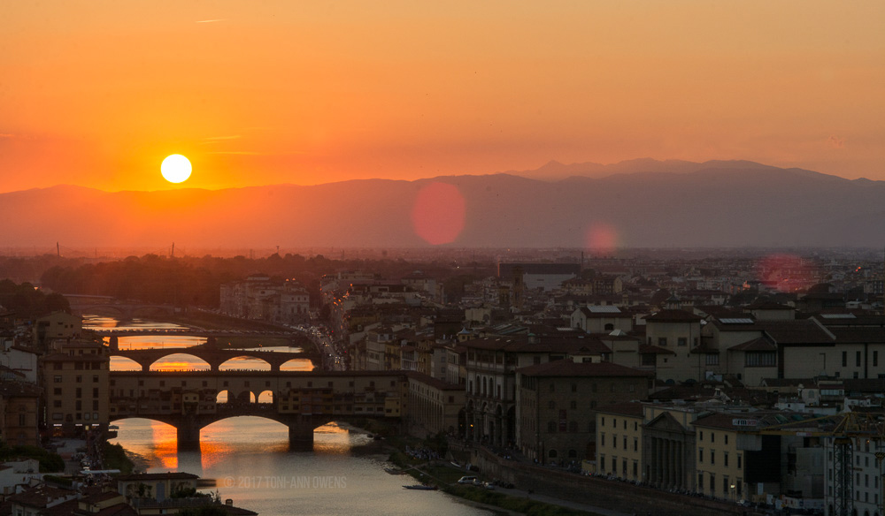 Sunset Over the City of Florence from Piazzale Michelangelo