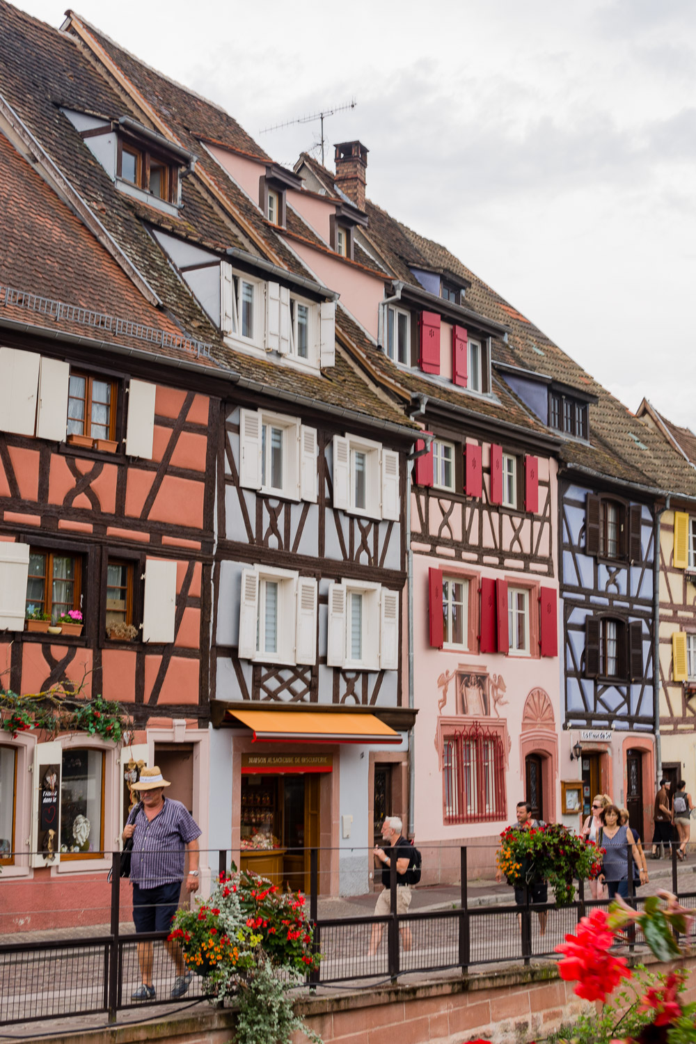 Colourful Half-Timber Buildings in Colmar France
