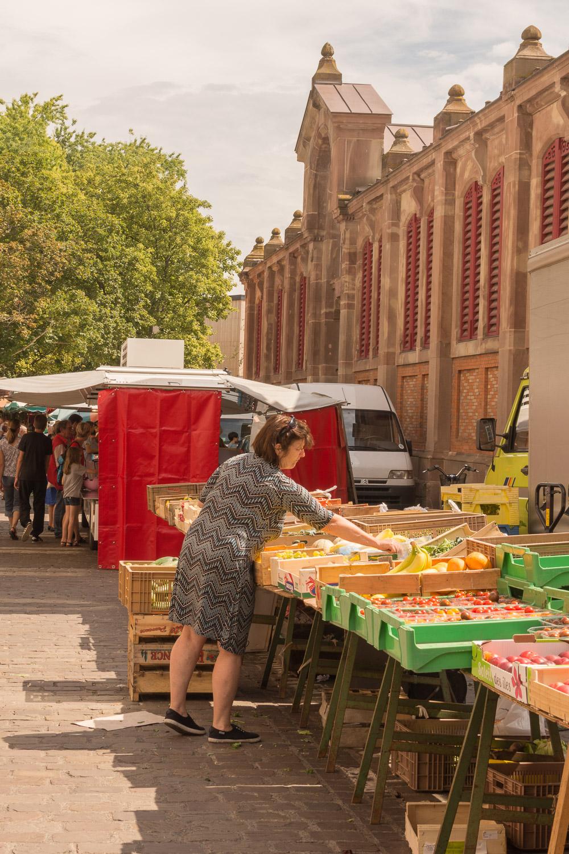 Market Vendor in Colmar France