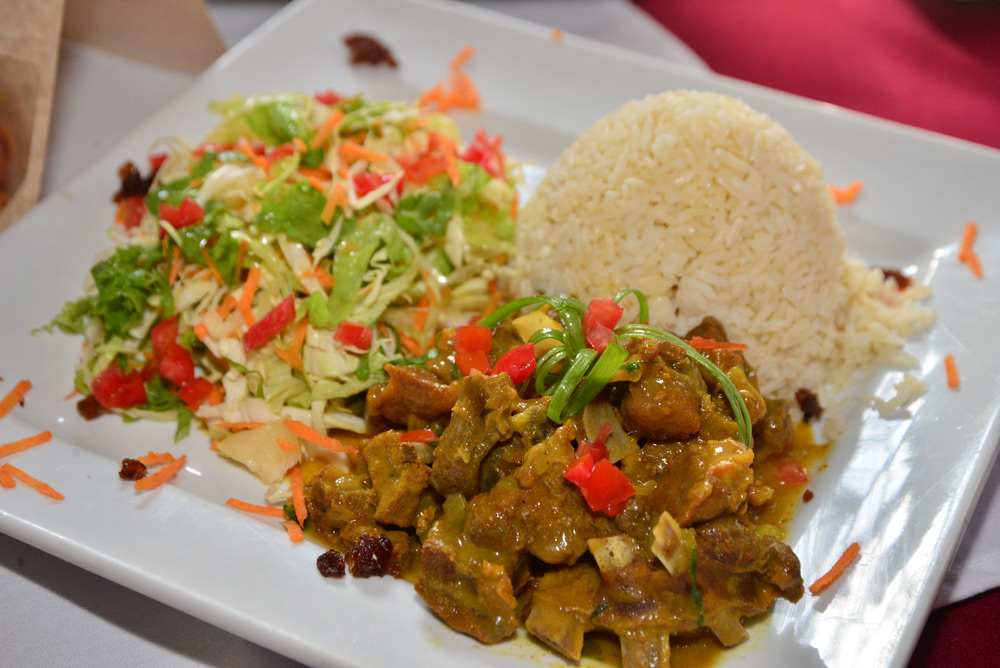 curried goat meal