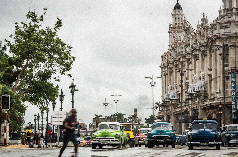 Old Cars on the streets of Havana Cuba
