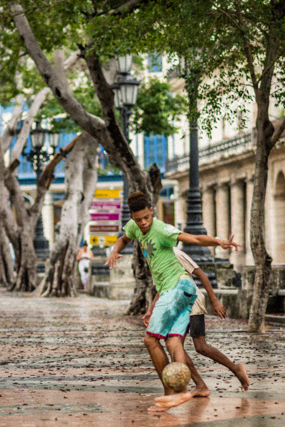 Young Football Players in Havana Cuba