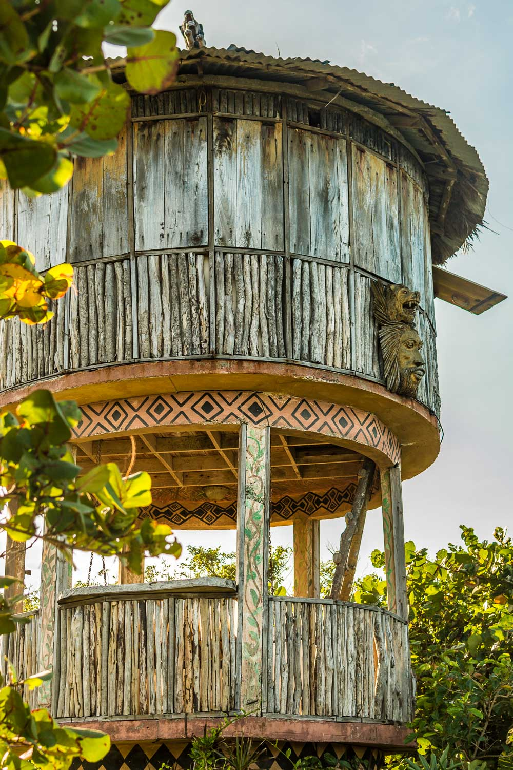 African Sunrise Hut at Great Huts Resort in Portland Jamaica; perfect for a romantic weekend getaway
