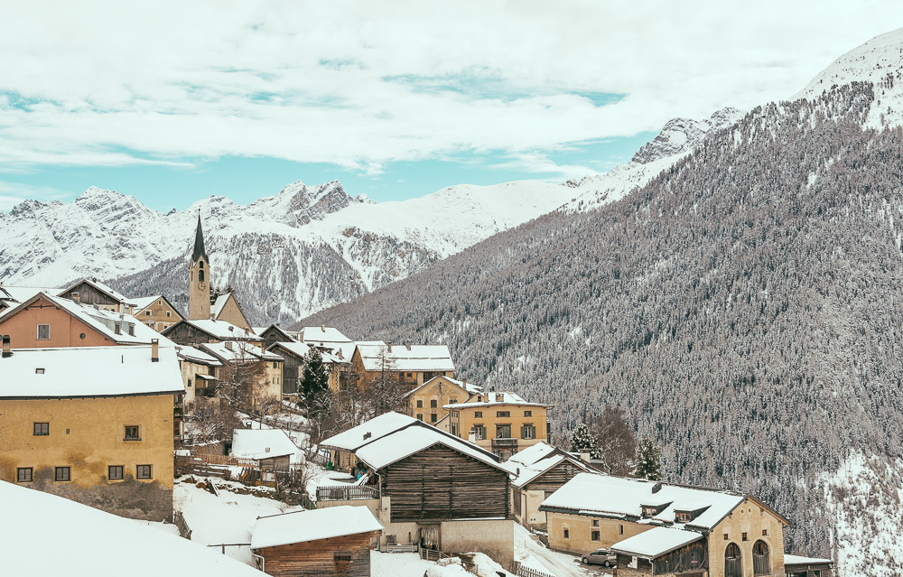 The charming town of Guarda in Engadin Switzerland is a great romantic vacation hideaway