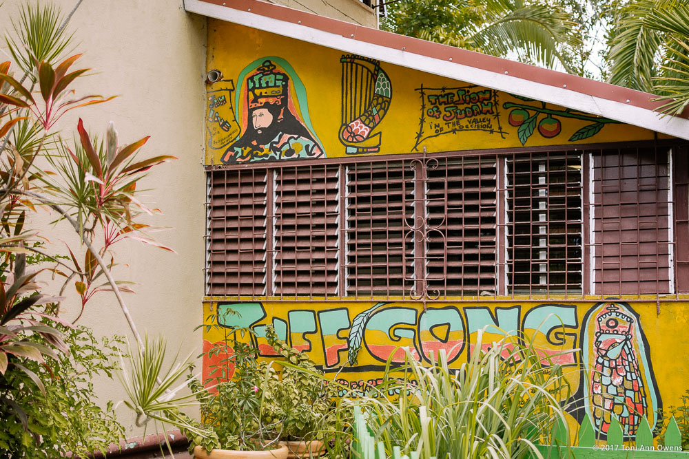 Tuff Gong Painting at the Bob Marley Museum in Kingston Jamaica