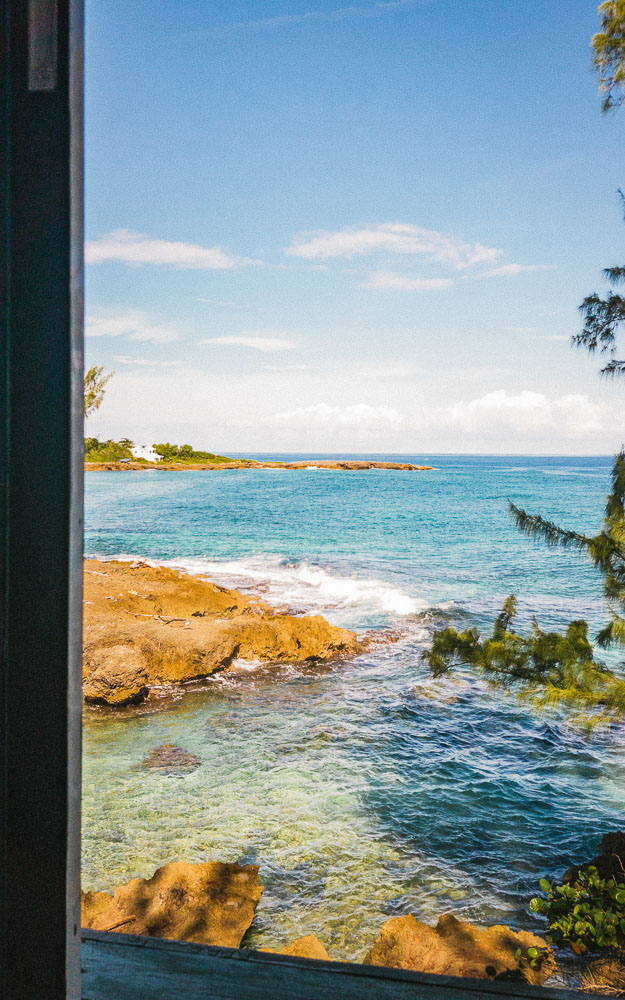 View from the Moonlight Magic Cottage at Strawberry Fields Together in Jamaica