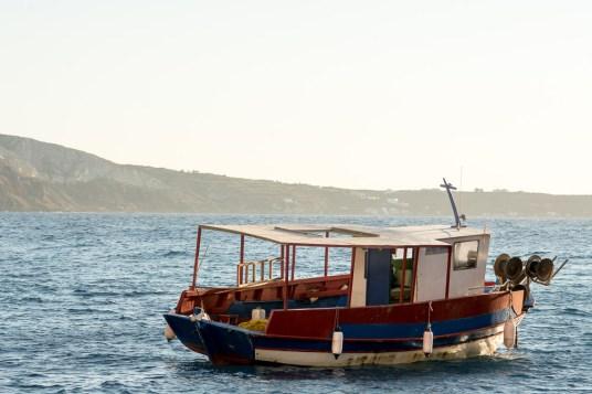 Boat at Ammoudi Bay