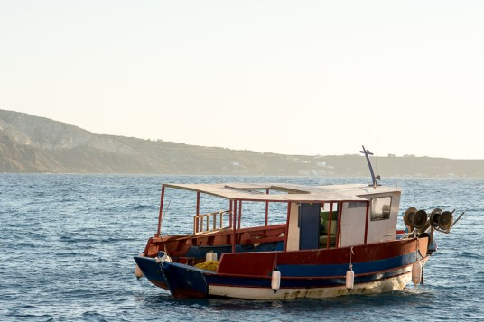 Boat at Ammoudi Bay