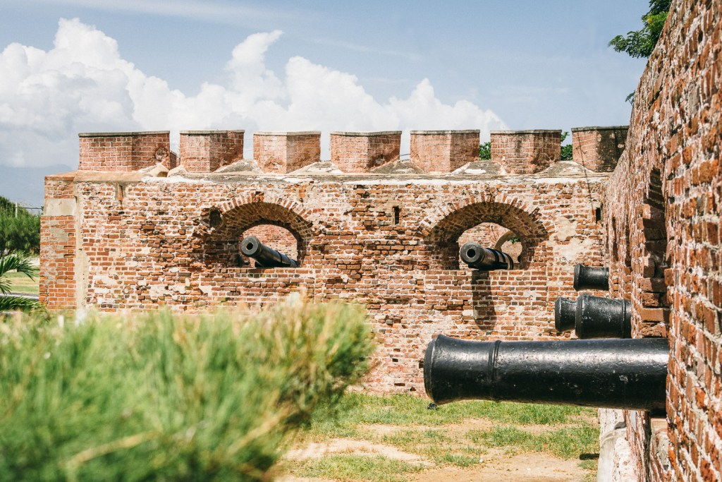Canons at Fort Charles