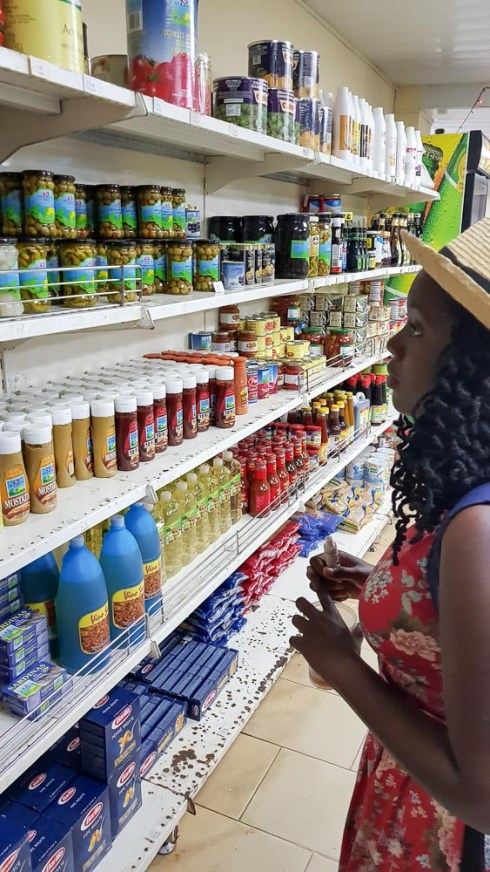 Girl Inside a Cuban Supermarket in Trinidad Cuba