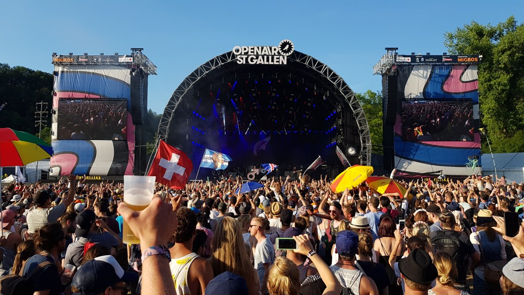 St. Gallen Open Air Festival Summer in Switzerland