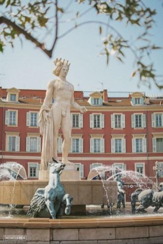 Apollo Statue in Place Massena in Nice France
