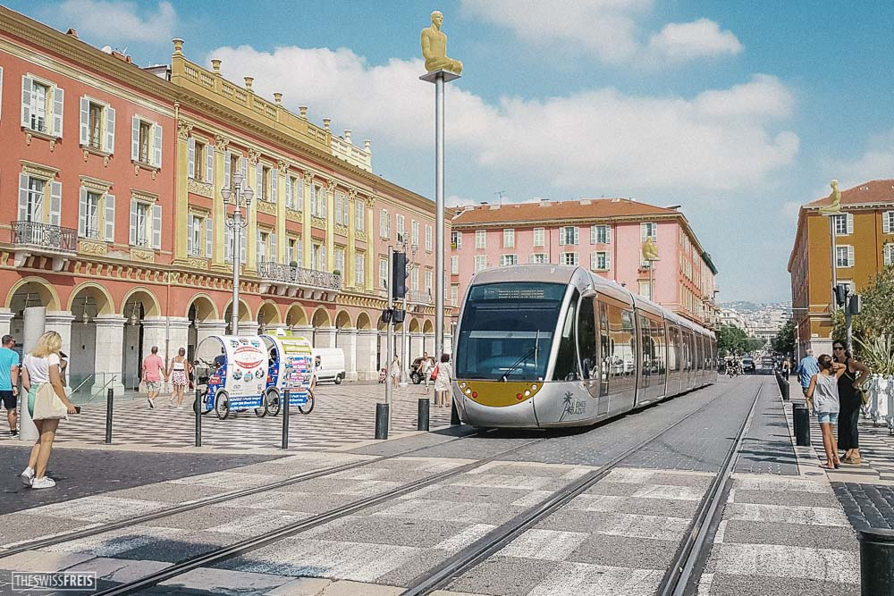 Tram in Place Massena Nice France