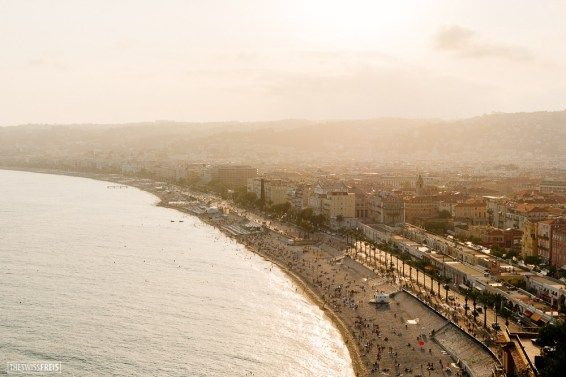 View of Nice from Colline du Chateau