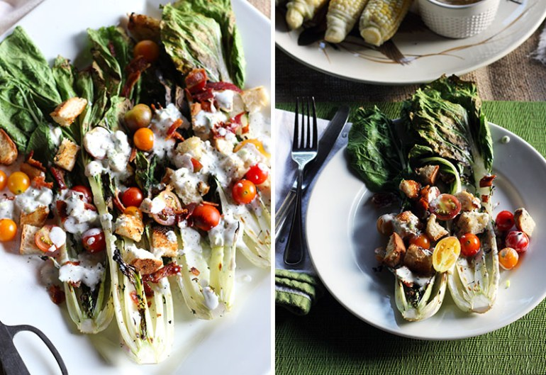 Grilled Bok Choy Wedge Salad | www.thetableofcontents.co