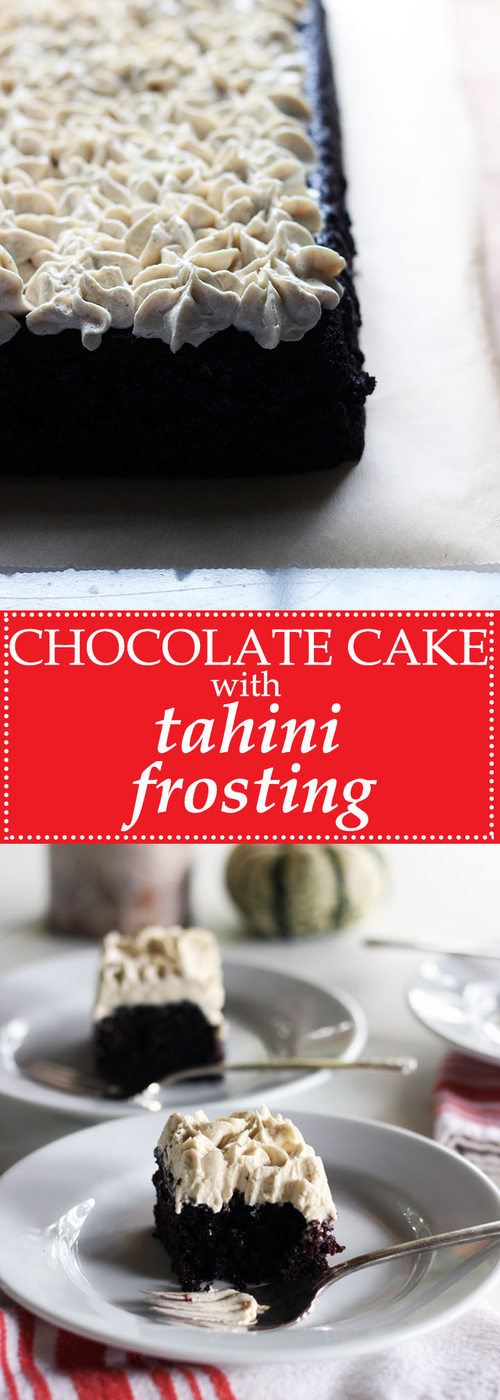Chocolate Sheet Cake with Molly's Tahini Frosting | www.thetableofcontents.co