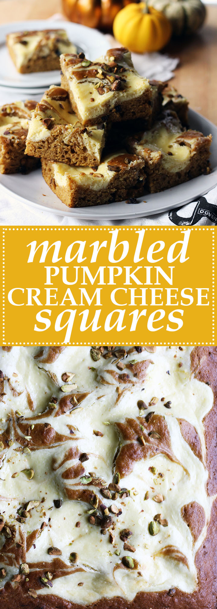 marbled pumpkin cream cheese squares | www.thetableofcontents.co