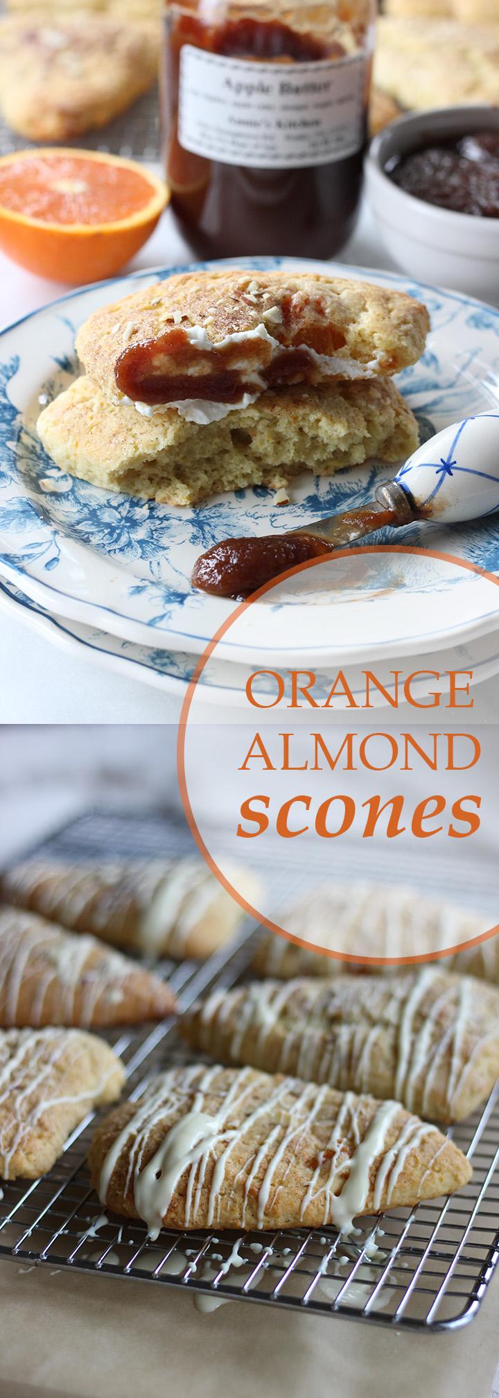 Orange Almond Scones   www.thetableofcontents.co