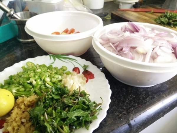 Erachi Choru (Meat Rice Kerala Style) - Ingredients