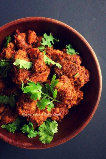 Kori Sukka or Chicken Sukka (Mangalore Style Dry Chicken Curry)