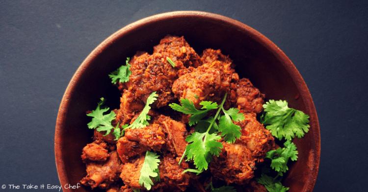 Kori Sukka (Mangalore Style Dry Chicken Curry)