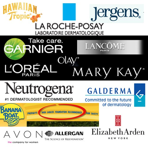 some of the corporate sponsors of the skin cancer foundation