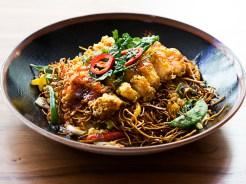 Nasi Goreng Stir Fried Rice with Prawns and Chicken